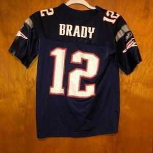 Kids New England patriots Brady #12 jersey M 10-12